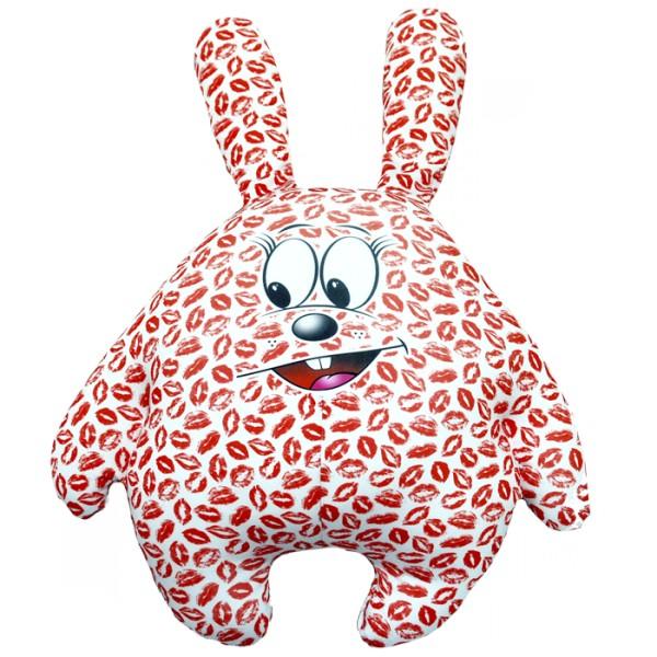Подушка-игрушка Зацелованный зайчик