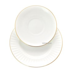 Чашка с блюдцем Золотой кантик (фарфор)
