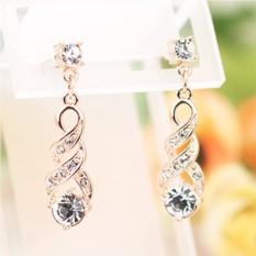 Серьги с позолотой и австрийскими кристаллами Венеция