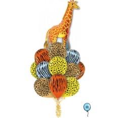 Букет шаров Сафари - Жираф
