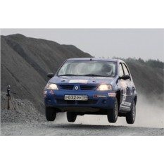 Заезд в роли штурмана на Renault Logan (1 круг)