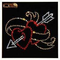 Картина Swarovski Сердца и стрела Амура