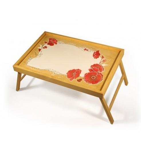 Столик для завтрака в кровати «Букет Маков»