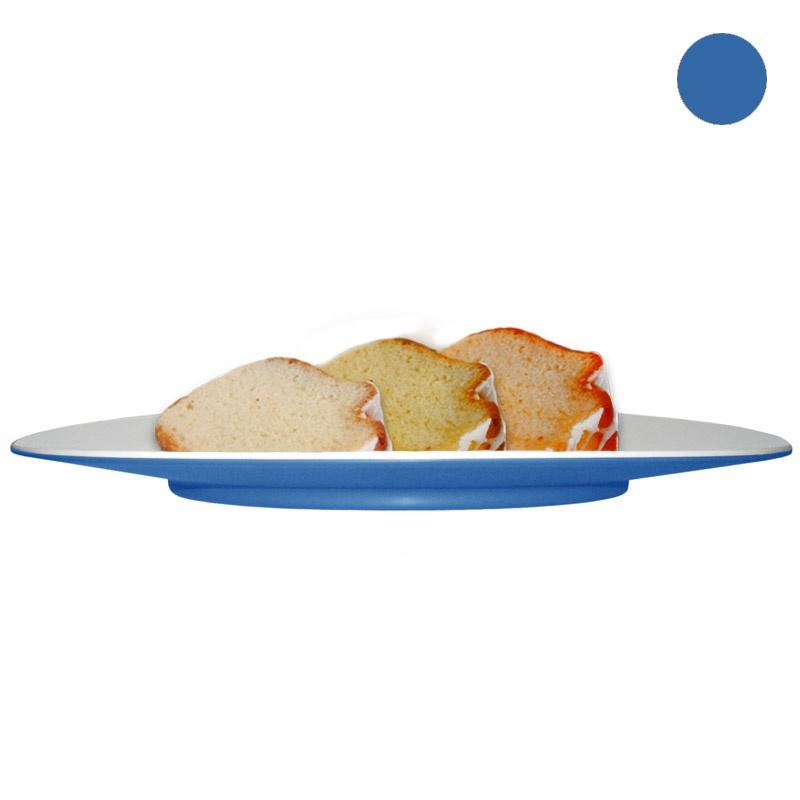 Тарелка десертная Entity голубая