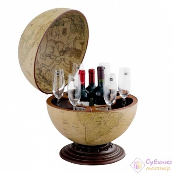 Глобус-бар настольный«Антик», диаметр 40 см