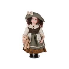 Красивая фарфоровая кукла (высота 50 см)