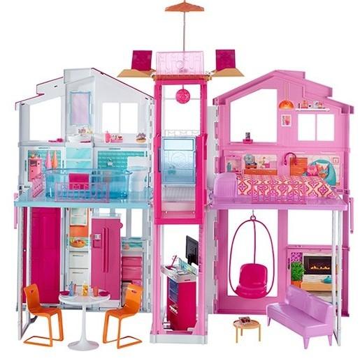 Кукольный домик Barbie Городской дом Малибу от Mattel