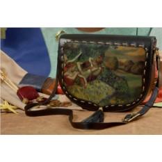 Женская сумка-седло с принтом Elole Design Танцовщицы Дега