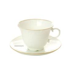 Фарфоровая кофейная чашка с блюдцем Жасмин