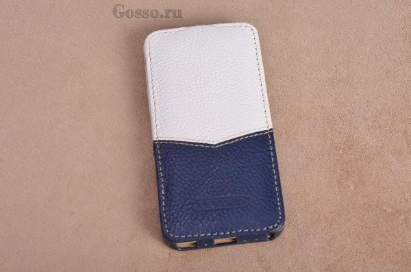 Кожаный чехол для iPhone 5 / 5S Морячок (тип книжка)