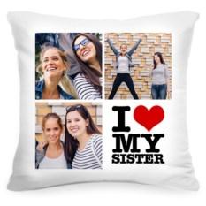 Подушка с вашим фото I love my sister