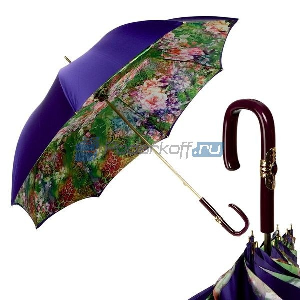 Зонт-трость Pasotti Viola Tropical Plastica Fiore