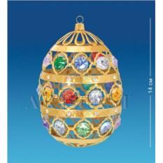 Фигурка с цветными кристаллами Swarovski Яйцо большое
