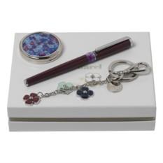 Подарочный набор (ручка роллер, брелок, зеркало)
