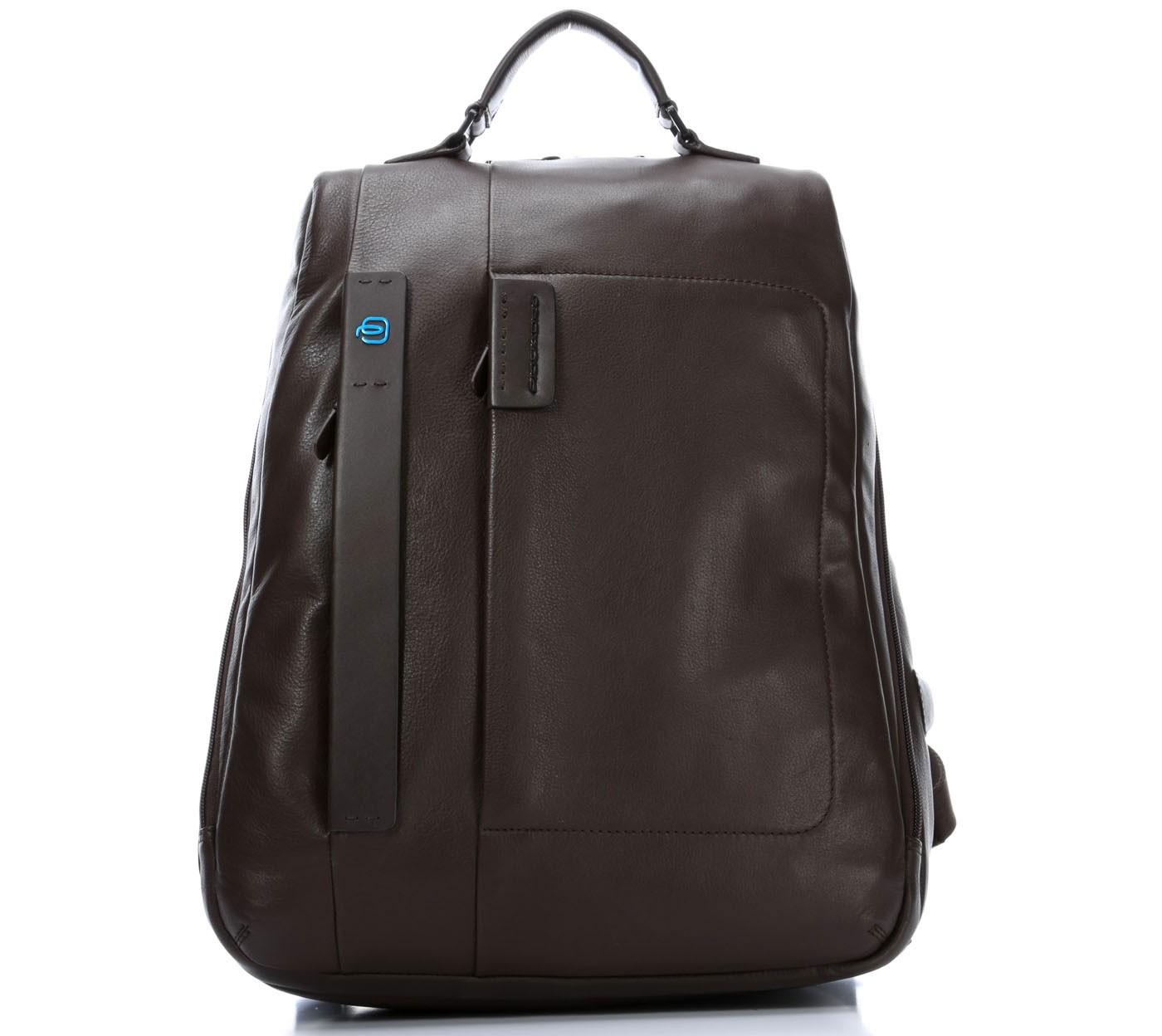Кожаный коричневый рюкзак для ноутбука Piquadro Pulse