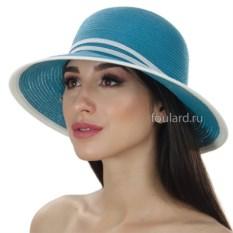 Пляжная бирюзовая шляпа от Del Mare