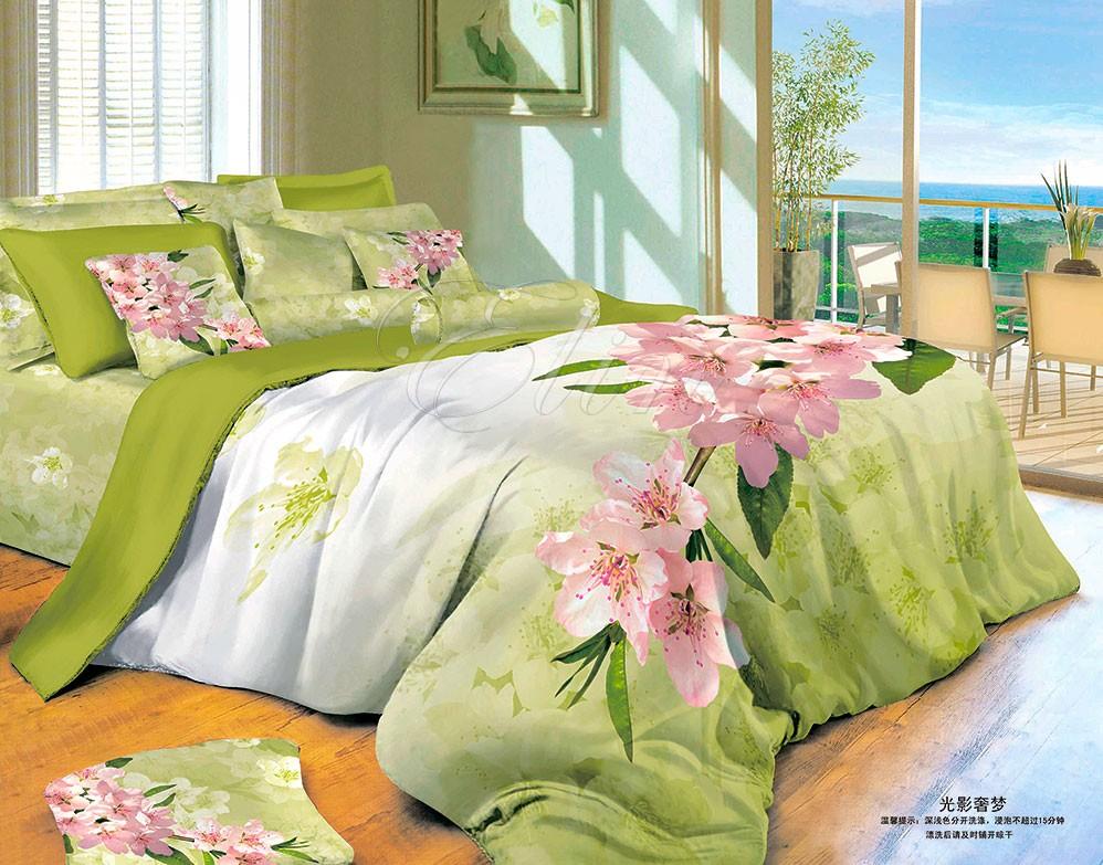 Сатиновое постельное белье Мятная нега (Elin)