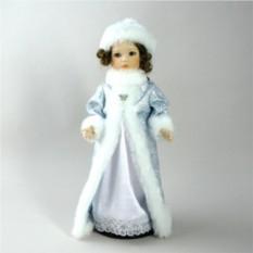Фарфоровая кукла Снегурочка в голубом платье