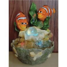 Настольный фонтан Веселые рыбки, кораллы, шарик