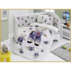 Детский комплект в кровать с бортиками V4