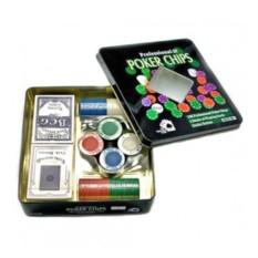 Покерный набор на 100 фишек с картами