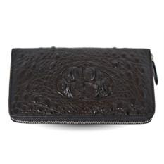 Мужской кошелек-клатч из крокодиловой кожи на молнии