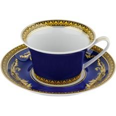 Чайная пара Versace «Medusa» голубая