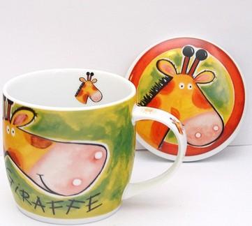 Кружка с крышкой Ani-mug Giraffe