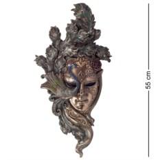 Большая венецианская маска Павлин (цвет — бронзовый)