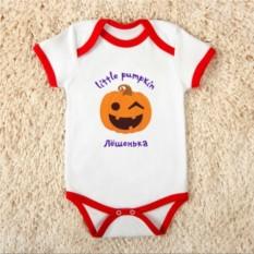 Детское именное боди Little pumpkin