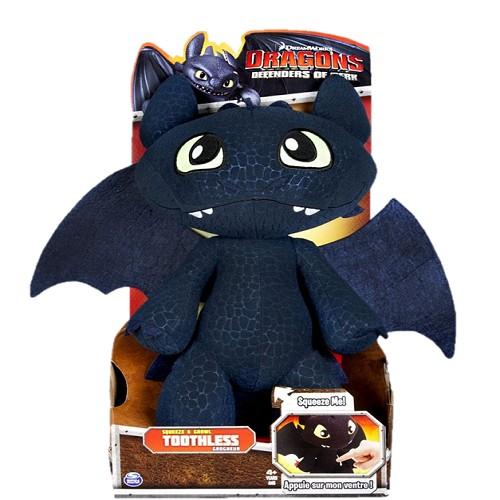 Мягкая игрушка Дракон Беззубик из м/ф Dragons со звуком