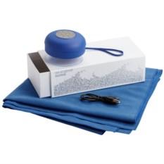 Подарочный набор На бодрой волне из колонки и полотенца