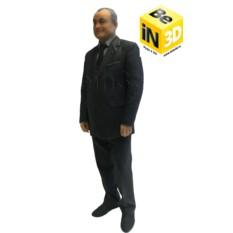 3D фигурка дедушке - миниатюрная копия