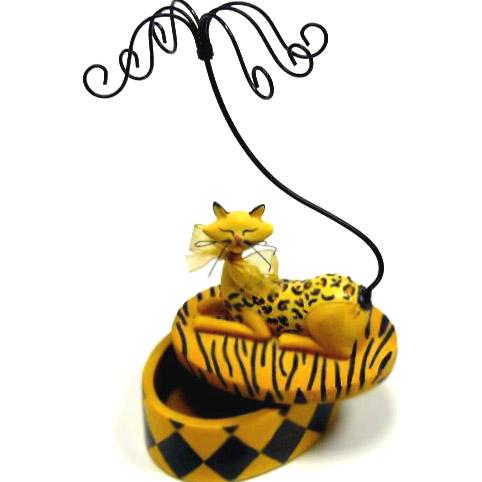 Подставка для бижутерии «Кошка Тигровая»