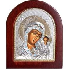 Икона Богородицы Казанская в серебряном окладе