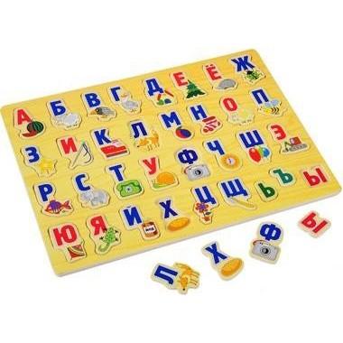 Детская игрушка деревянная алфавит
