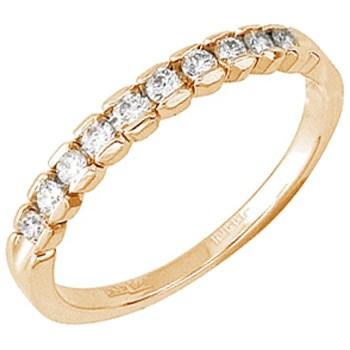Обручальное кольцо с 10 бриллиантами весом 0.25 карат