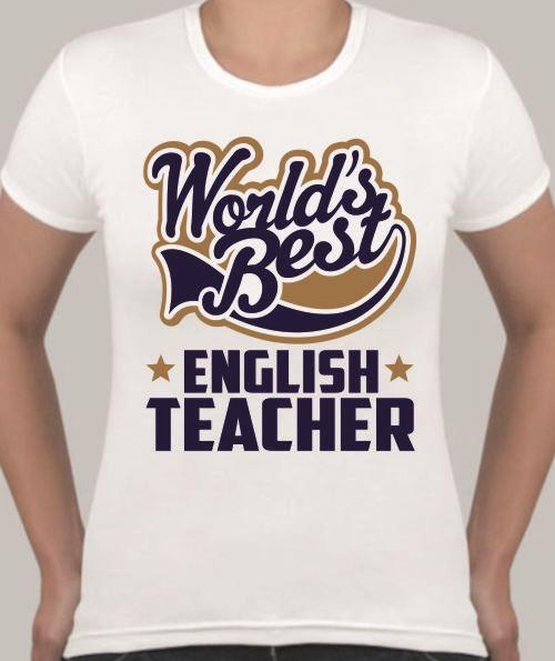 Женская футболка English teacher