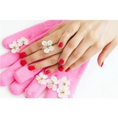 Розовые силиконовые гелевые SPA перчатки