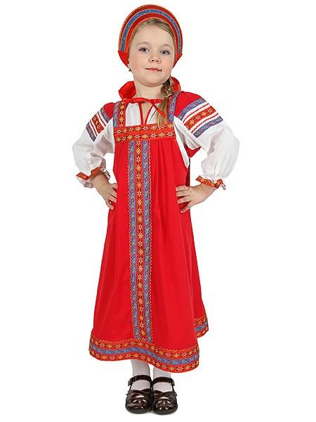 Русский народный хлопковый костюм для детей Дуняша