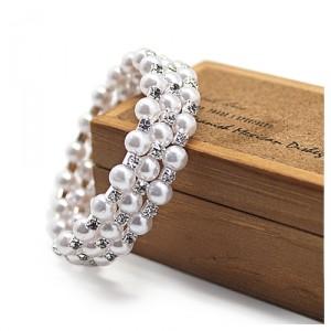 Браслет Pearls & strass