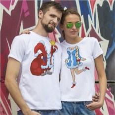 Парные футболки Новогодний Костюм