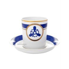 Фарфоровая чайная чашка с блюдцем Кают компания № 4