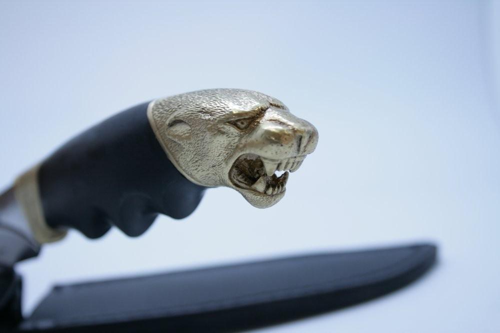 Нож Хищник кованный с литыми гардами с долой, Кизляр