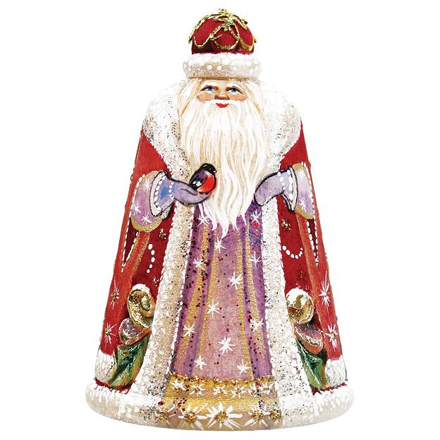 Украшение «Дед Мороз со снегирем»