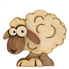 Магнит деревянный Овечка
