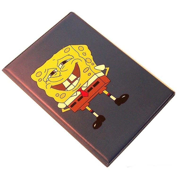 Обложка для паспорта Спанч Боб black