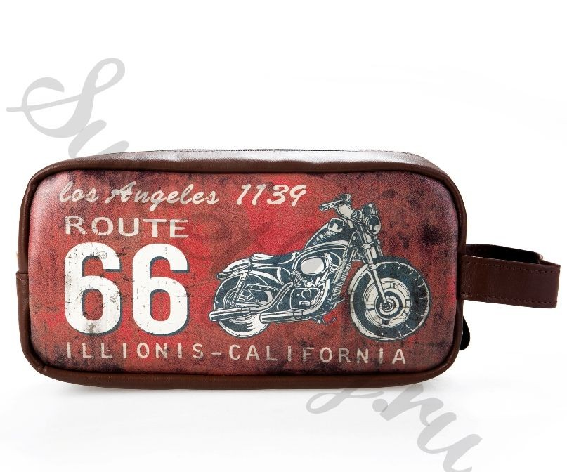 Мужская косметичка Historic Route 66 – Red