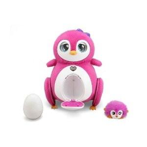 Игрушка  «Пингвин розовый с пингвиненком Bebe»