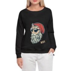 Женский свитшот Hipster Santa